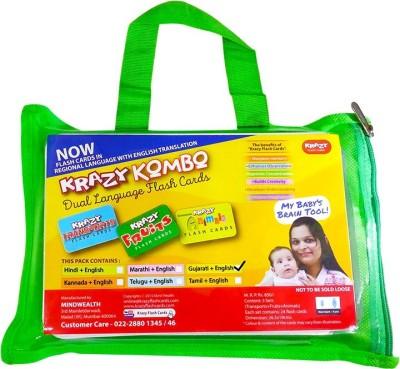 Krazy Krazy Kombo dual language flash cards(Gujarati-English)