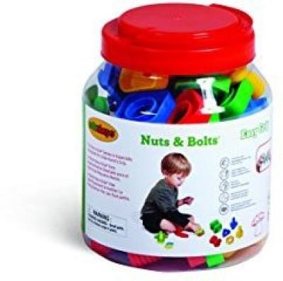 Edushape Ez-Grip Nuts and Bolts 48 Piece Development Toy(Multicolor)