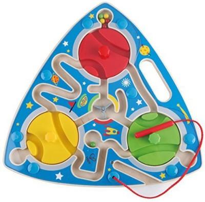 Hape Hape - Mesmerizing Magnetic Wooden Maze Puzzle(Multicolor)