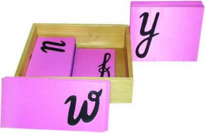 Kinder Creative Sand Paper Letter - Cursive