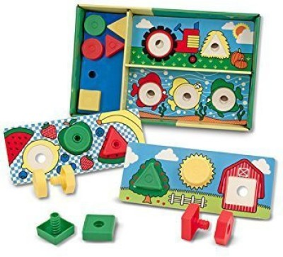 Melissa & Doug SORT MATCH ATTACH NUTS & BOLTS(Multicolor)