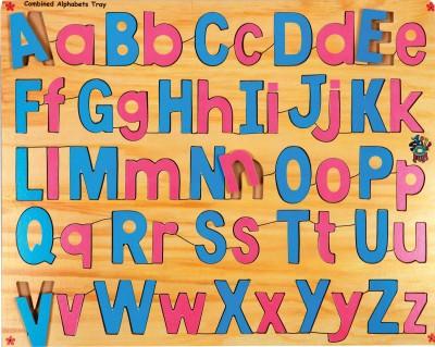 Skillofun Combined Capital and Lower Alphabet Tray