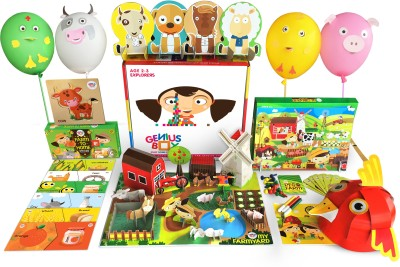 Genius Box Genius Box Learning Toys for Children : Farm Fun Activity Kit (Multicolor)(Multicolor) at flipkart