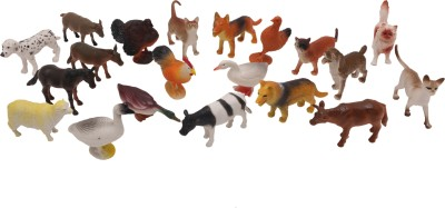 Babytintin Farm animals (20 piece) with realistic features and looks