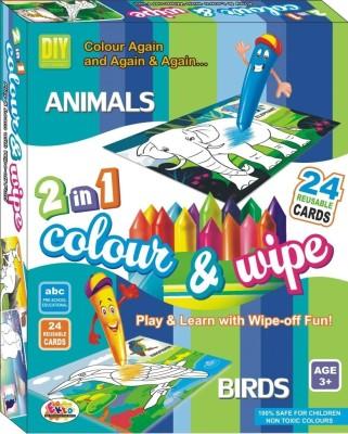 Ekta Ekta Colour & Wipe Animals And Birds