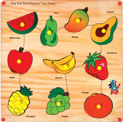 Skillofun King Size Identification Tray Fruits