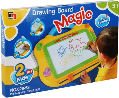 Just Toyz Easy to Hold Magic MultiColor Drawing Board 2 in 1 Sketch Pad Writing Painting Craft Art Child Gift Toy