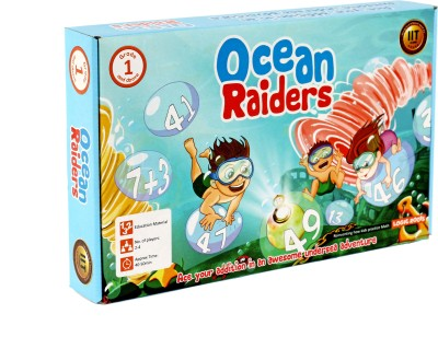 Logic Roots Learning toy OCEAN RAIDERS Perfect Math Board Game to Master Addition