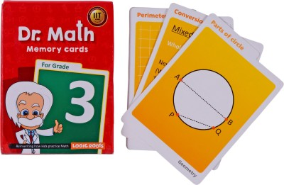 Logic Roots Dr Math (Grade 3) - Memory Flash Cards for Grade 3 Kids for Concepts, Clarity and Recall