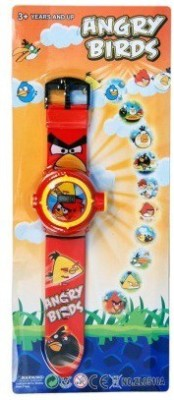 Unica Angry Bird Projector watch(Red)