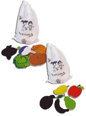 Skillofun MAGNETIC CUTOUTS - FRUITS + VEGETABLES(Multicolor)