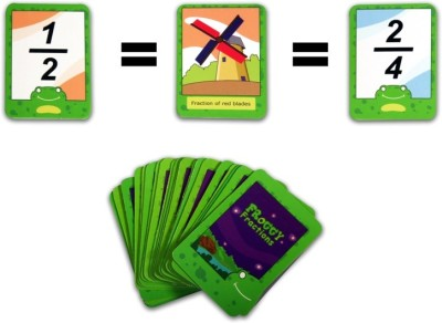 Logic Roots Eucational Math Game FROGGY FRACTIONS Card Game to Master Advanced Fraction Skills