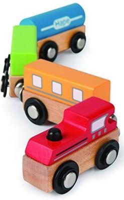 Hape Hape - Qubes - Wooden Magnetic Classic Train Set(Multicolor)
