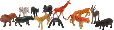 Babytintin wild animals (12 piece) with realistic features and looks