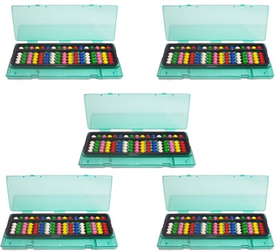 SAE FASHIONS Multicolor 17 Rod Abacus Kit With Box Set Of 5