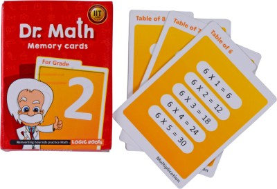 Logic Roots Dr Math (Grade 2) - Memory Flash Cards for Grade 2 Kids for Concepts, Clarity and Recall