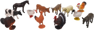 Babytintin Farm animals (12 piece) with realistic features and looks