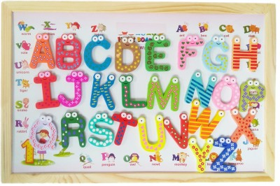 GoAppuGo 4 in 1 Magnetic Kids Writing Board Toy For Educational Learning of Alphabet Numbers