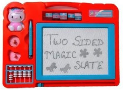 Homeshopeez Double Side Magic Slate for Kids in Assorted Colour