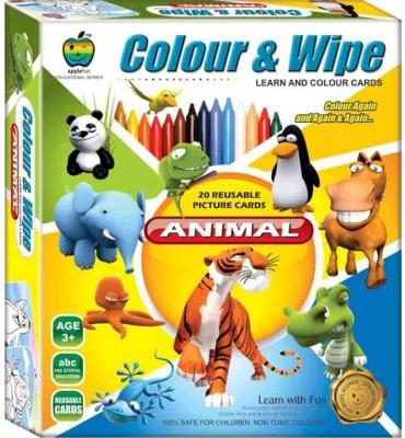 Applefun Colour & Wipe Animal