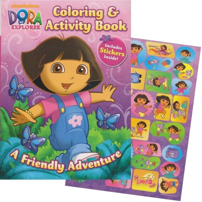 Bendon Publishing Dora the Explorer Giant Coloring Book with Stickers