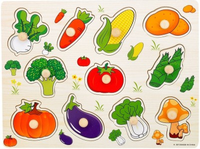 Priya Exports Vegetables Puzzle With Knob