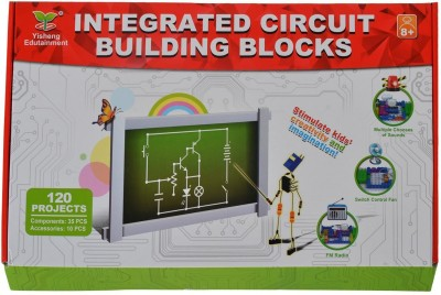Planet of Toys Integrated Circuit Building Blocks Scientific Educational Toy - 120 Projects