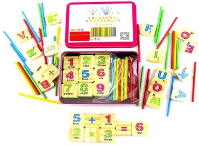 Kuhu Creations Early Age Maths Learning and Counting Educational Wooden Toy For Children.