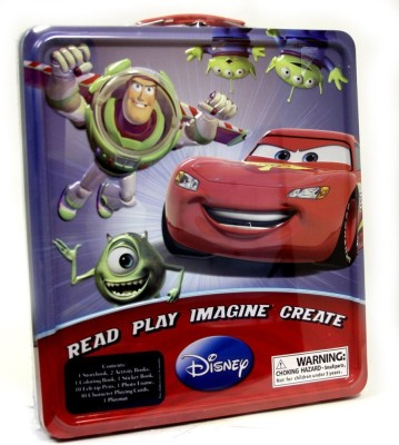 Disney Read Play Imagine Create Cars Toy Story and Monsters Inc. Activity Set