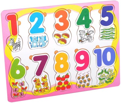 Priya Exports Numbers w Pictures Wooden Puzzle