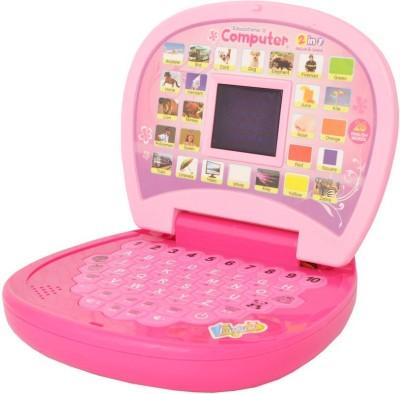 A M ENTERPRISES Pink Learning Laptop for kids