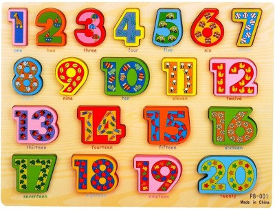 Priya Exports Large Colored Numbers Wooden Puzzle