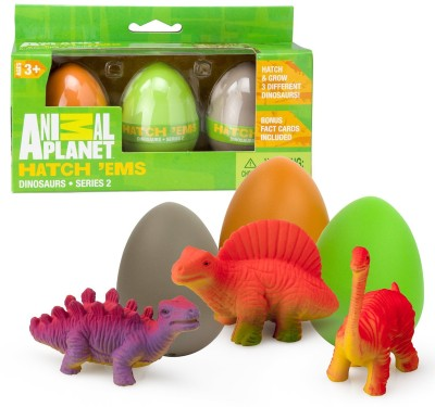 SCS Direct Animal Planet Grow Eggs- Dinosaur- Hatch and Grow Three Different Super-Sized Animals (Series 2)