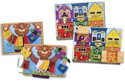 Melissa & Doug Basic Skills And Latch Board Bundle