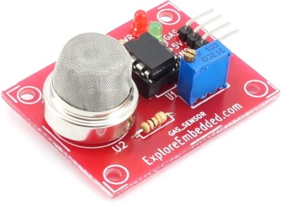 Explore Embedded Methane CNG Gas Sensor(MQ4) board