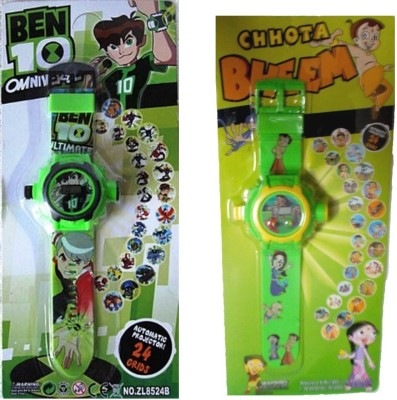 Shop & Shoppee Combo of Ben 10 & Chhota Bheem Projector Wristband - 24 Images