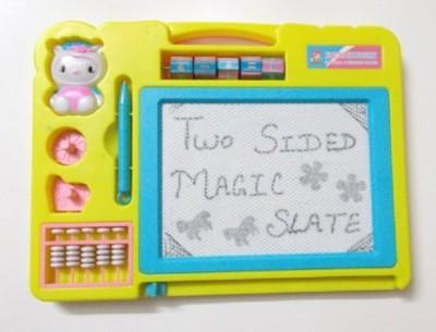 HMS Yellow double sided magic Slate & Black Chalk Board