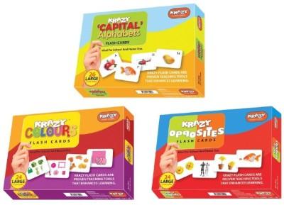 Krazy Krazy flash cards Set of 3(Capital alphabet,opposites,colours)