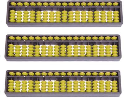 Djuize Yellow 17 Rod Abacus Set Of 3