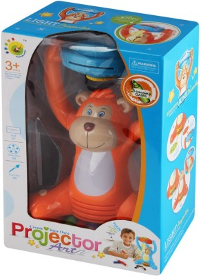 Just Toyz Create your own Projector art Monkey Shaped Projector Drawing Creativity Attractive & Durable Intelligence Toy