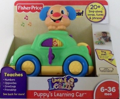 Fisher-Price Laugh & Learn Puppy's Learning Car