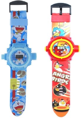 New Pinch Combo Of Blue & Red Bird Projector Watch-24 Images