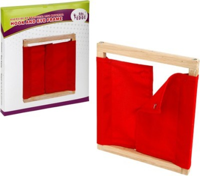 Eduedge Montessori Materials Exercises Of Practical Life - Hook & Eye Frame