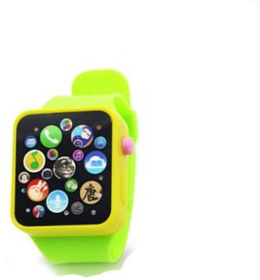 Baby World Non Toxic Musical Smart Watch Toy(Green)
