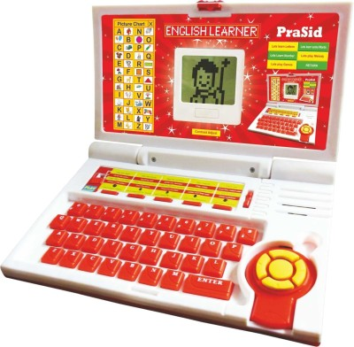 Prasid English Learner Computer Toy Educational Laptop Red
