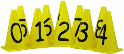 Sahni Sports Numbered Markers Cones 0-9 (Set of 10)