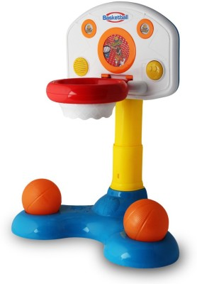 Just Toyz Battery Operated Shoot,n Sound Basket Ball Game Toy for Little Champions by Infant Toys Expert
