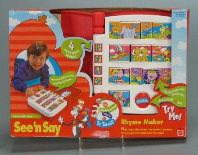 Mattel Dr Seuss See ,N Say Rhyme Maker
