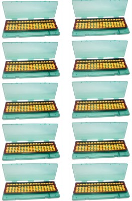 Djuize 17 Rod Yellow Abacus With Box-Pack Of 10