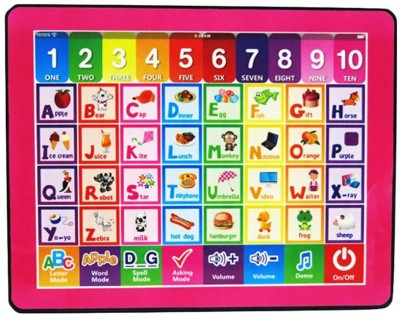 RVOLD Kids English Learning Computer Tablet Toy with Alphabets and Number